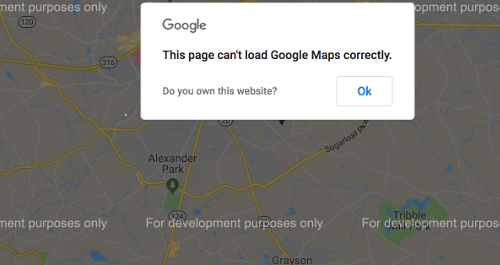 How to Solve This Page Can't Load Google Maps Correctly